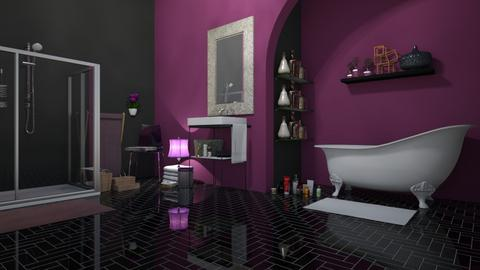 Purple Splash - Bathroom  - by Khayla Simpson