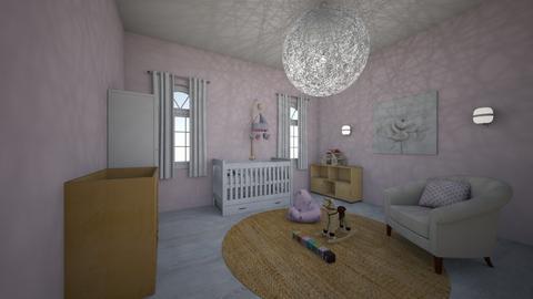 nursery for a girl - Kids room  - by Hila Meir