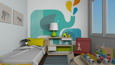 Concrete Jungle - Kids room  - by lauren_murphy