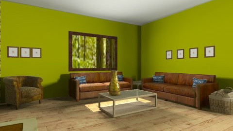 Green - Vintage - Living room  - by Chelsc411