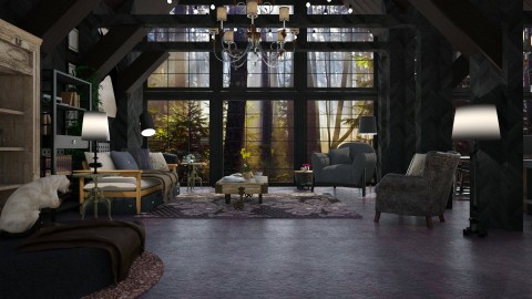 forest home - Modern - Living room  - by Evangeline_The_Unicorn