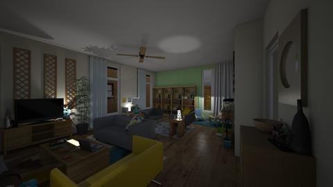 2019 fam living room nite - Living room - by Lovatic24