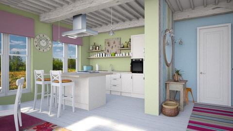Colorful kitchen - Kitchen  - by Lizzy0715