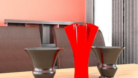 Scarlet Dining Room - Glamour - Dining room - by AliceJayeSykes