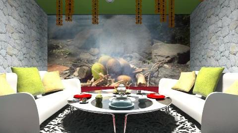 GOLD - Rustic - Living room  - by JEN GRANT FRISKIELISKIE