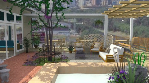 Terrace On The Roof - Rustic - Garden  - by Bibiche