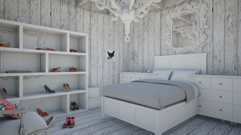 Wonderful white - Rustic - Bedroom  - by Stellasmith