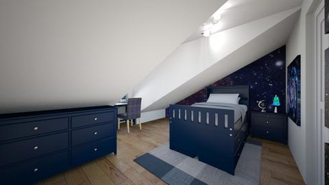 Boys Attic Bedroom 2 - Bedroom - by SammyJPili