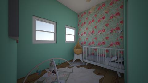 minty fresh nursery - Kids room - by cinderella1111