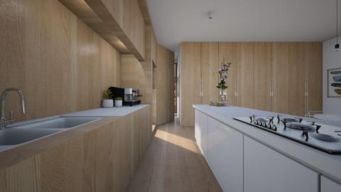 wooden kitchen - Modern - Kitchen - by BE190