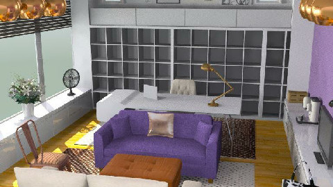 Alicia's corner office - Modern - Office  - by toadfool