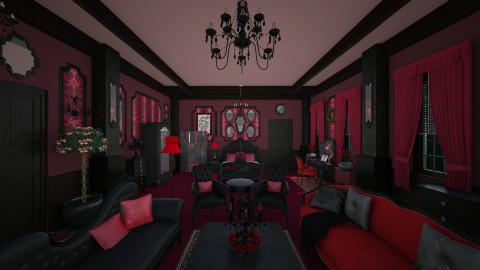 Red Vintage Room - Vintage - Bedroom  - by Pirschjaeger