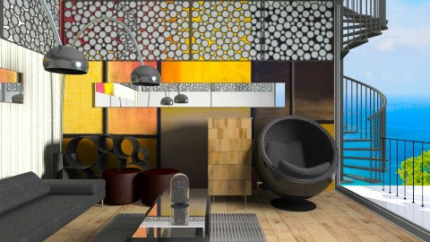 Black Art  - Classic - Living room - by abhishek7777