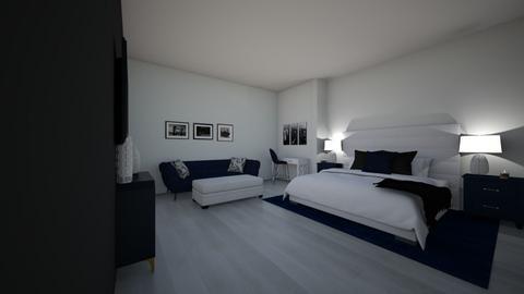 navy room - Bedroom  - by OliviaRaschkeeee