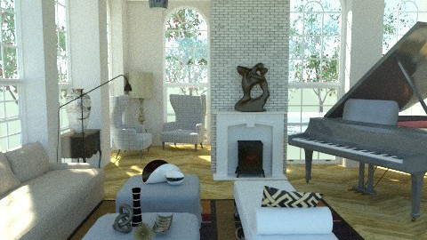 family room - Eclectic - Living room  - by The_Hunter_and_Gatherer