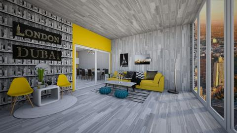 Yellow Accents - Modern - Living room  - by Rose2207