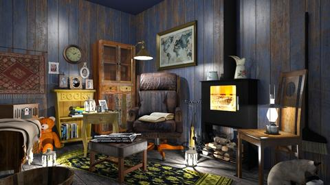 Grandpa s 1 - Vintage - Living room  - by MonicaMV