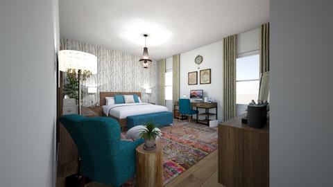 Teen Suite - Eclectic - Bedroom  - by Mari Lara_978