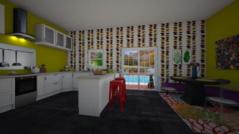 Modern Playful Kitchen  - Kitchen - by kasturgill