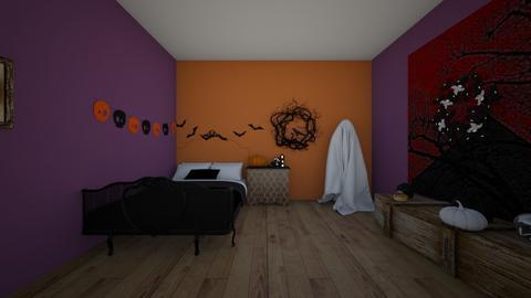 Halloween bedroom - Bedroom  - by crying_room