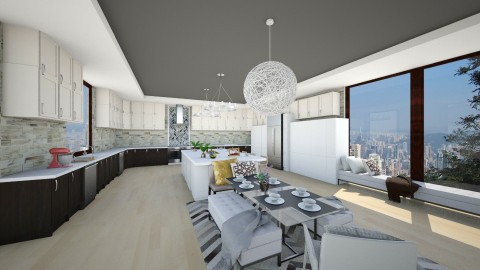 Big Family kitchen - Modern - Kitchen  - by bgref