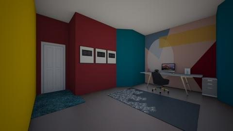 bauhaus color study - Office  - by MillieBB_fan
