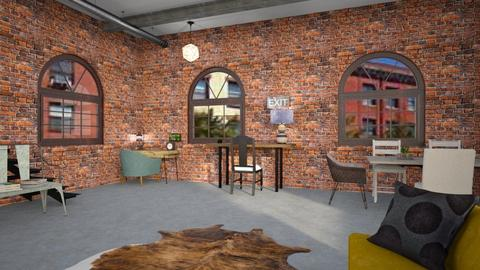 Brick Building Office - Rustic - Office  - by CitrusSunrise