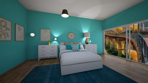 Turquoise and Gold  - Bedroom - by Abbs33