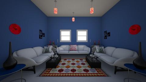 Symmetrical Living Room - Living room  - by 21bransonl