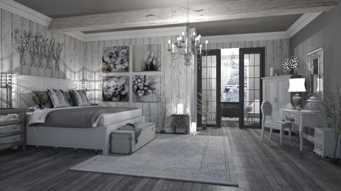 RUSTIC BEDROOM - Rustic - Bedroom  - by RS Designs