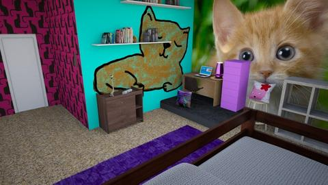 Cat room _ My room - Minimal - Bedroom - by designcat31