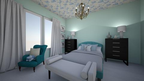 Turquoise Bedroom - by AngelicaZhelez