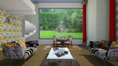 Symmetrical Living Room - Classic - Living room  - by CeeCee_