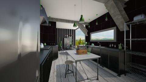 Black kitchen - by BRL