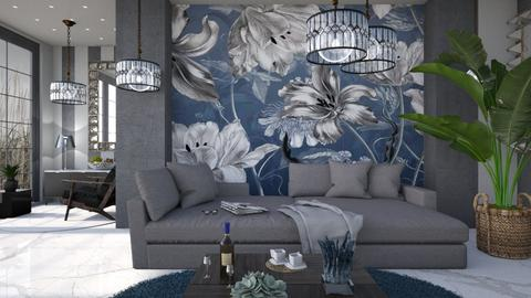 M_ Blue and gray - Living room  - by milyca8