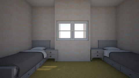 twin room - Kids room  - by camille_thellama