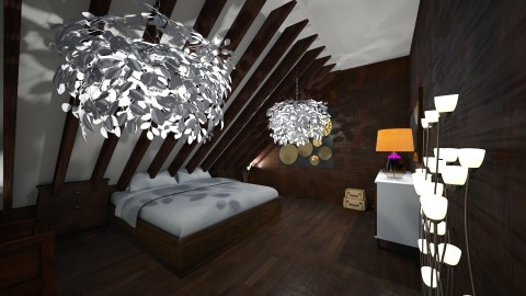 wood bedroom - Classic - Bedroom  - by RollPinkEra