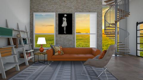Orange Living - Living room  - by Flaflaf