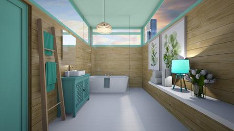 nature bathroom - Bathroom  - by Victoria_happy2021