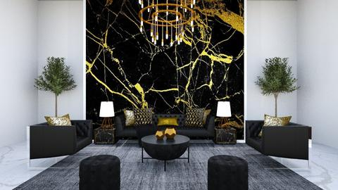Black and gold - Classic - Living room  - by Lambogirl