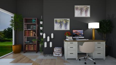 Dark Office - Office  - by Maria Rachel