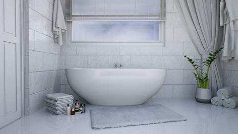 Simple White Bathroom - by KittyT6