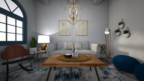 blue - Living room - by Rachel_Starlanda