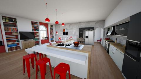 black and red - Kitchen - by mmehling