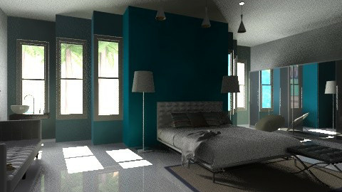 Exotic blue - Modern - Bedroom  - by hetregent