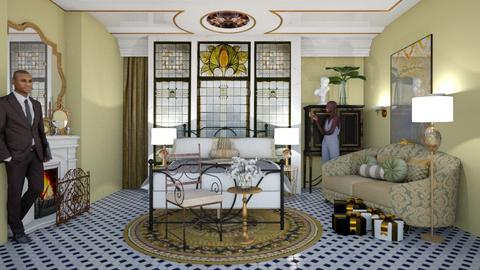Art Nouveau Bedroom - Bedroom  - by chania