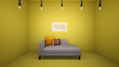 Drama yellow - Living room  - by FANGIRLdesigner