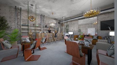 Modern_Pancake_Cafe_House - Modern - Living room - by Nikos Tsokos