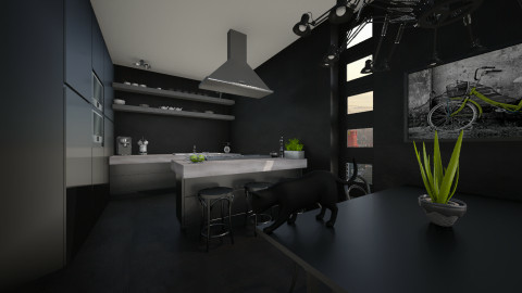 50 Shades Of Black - Kitchen  - by MandyB84