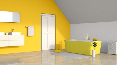 Yellow Bathroom - Modern - by designcat31